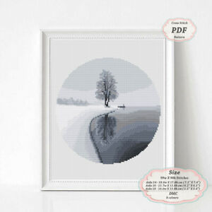 Grey-Landscape-Embroidery-Cross-stitch-PDF-Pattern-124