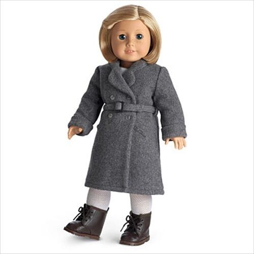 American Girl KIT WINTER COAT grey NIB retired doll boots tights not included