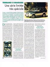 PUBLICITE ADVERTISING   1995   NISSAN   TERRANO II NIAGARA série trés spéciale