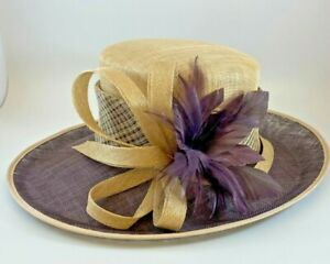 JAQUES VERT Ladies Hat Feathers Etc, Races or Wedding Stunning  - With Box-(NCF)