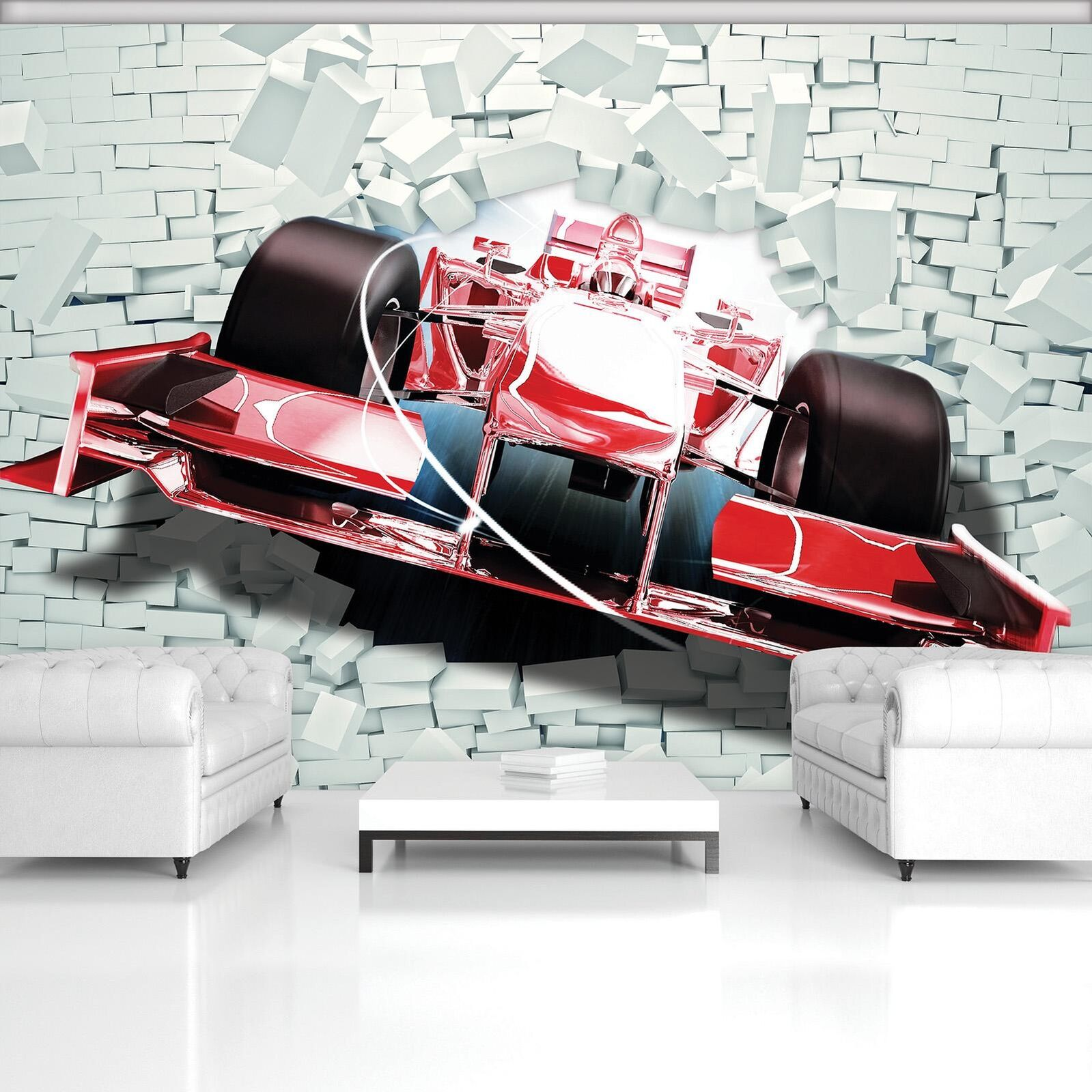 Photo Wallpaper Mural Non-woven 20240_VEN ROT Formula 1 3D F1 Formula 1 Race Bol
