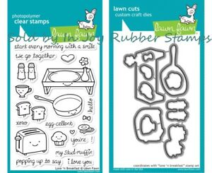 Lawn-Fawn-Love-n-Breakfast-Love-Letters-Clear-Stamps-Die-Sets-Valentine-039-s-Day