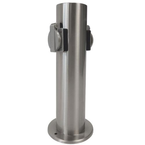 Prese di corrente pilastro 2 volte in acciaio inox ip44 energia pilastro esterno presa presa da giardino