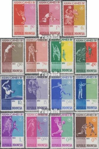 Indonesia 345359 complete issue unmounted mint never hinged 1962 Asian Spor