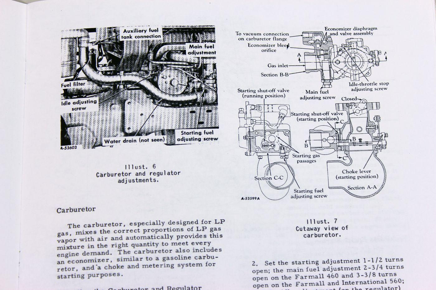 International Farmall 460 560 LP Tractor Owner Operators Manual LPG on