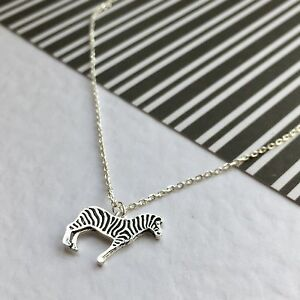 Silver Plated Zebra Necklace.Birthday,animal lover. Personalised ...