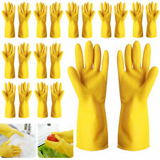 10 Pairs House Clean Gloves Rubber Scrubber Dishwashing Kitchen Cleaning Washing