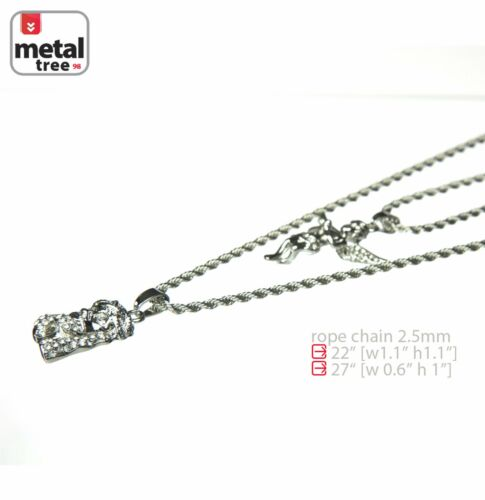"""Men/'s Solid Silver Plated Jesus /& Angel 22/""""//27/"""" Combo Pendant Necklace MHC 202 S"""