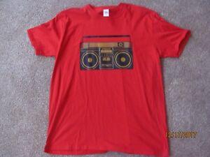 f2a511445f4 Details about Men's Retro Boombox Graphic MTV T-shirt 80's Size XL Vintage  Music Hip Hop Rock