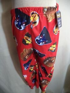 Angry-Birds-Star-Wars-Pajama-Bottoms-Boy-M-Red-Polyester-Elastic-Waist-Rovio-NWT