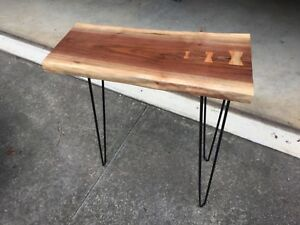 Image Is Loading Walnut Live Edge Slab End Table Side Table
