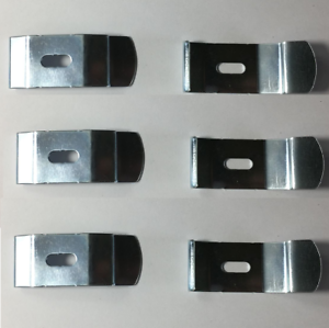"""6 x METAL SILVER """"C"""" CEILING CLIP FOR VERTICAL BLIND TRACK BRACKETS RECESS FIT"""
