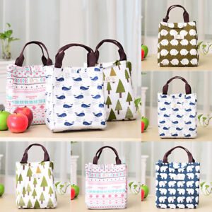 For Women Kids Men Insulated Box Tote Bag Thermal Cooler Food Lunch Picnic Bags