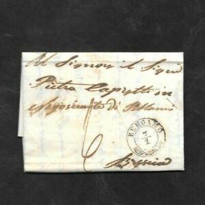Lombardo Veneto Prefilatelica da Bergamo a Brescia