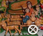 GRUPPI in plastica cm 10, 1 pastore CICCIBACCO SU CARRO BOTTI presepe shepherds