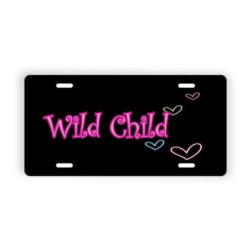 "Personalized Name Text Hearts Novelty License Plate 6/"" x 12/"" Personalized Custom"