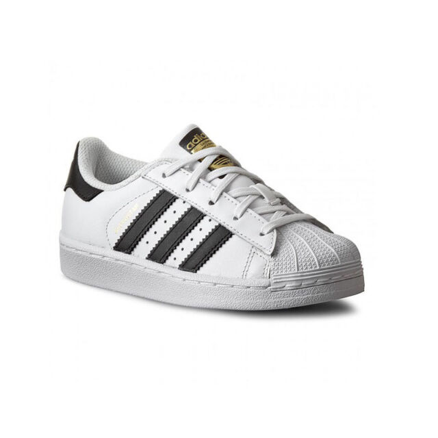 Adidas SUPERSTAR K FOUNDATION BA8378 Bianco/Nero mod. BA8378