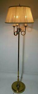 Vtg Ethan Allen Brass French Bouillotte 3 Solid Trumpet