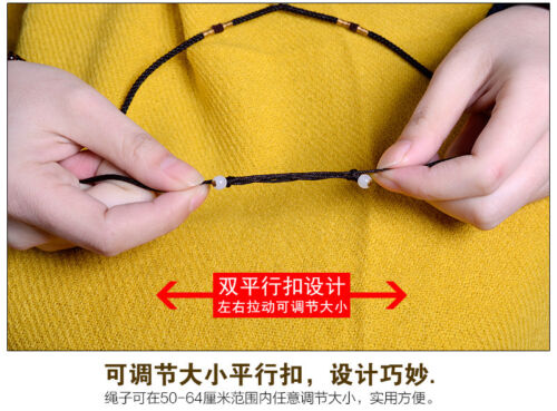 Adjustable Red Brown hand knitting Circle string cord rope for jade pendant A05