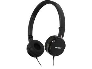 PHILIPS FS3BK On Ear Foldable Headphones - Black