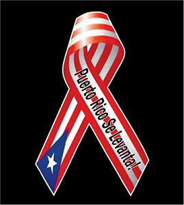 Puerto Rico se levanta Puerto Rico Car Decal Sticker