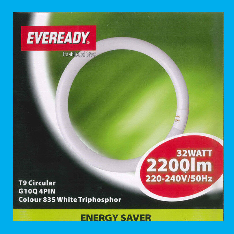 8x 32W G10Q 4 Pin T9 Round 300mm Circular Lamp Fluorescent Tube Ring Light Bulb