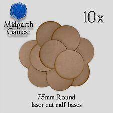3mm MDF 10x 60mm Round Bases