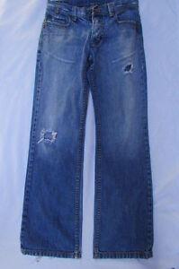 Lee Cooper Hombre Moda Vaqueros Clasico Rasgar Pantalones Luz Azul Botas Cut W30 Ebay