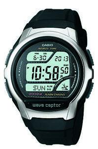 74708735628 A imagem está carregando Casio-Wave-Ceptor-Masculino-Quartz-horario-mundial- Relogio-