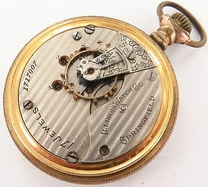 SCARCE-1905-ILLINOIS-18S-17J-POCKET-WATCH-A-FIXER-ONLY-18-906-MADE