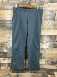 Nike Women's Grey Warm up Pants with Front Zip & Ankle Zip  Size L