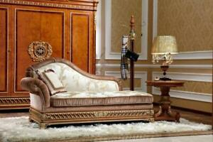 Chaiselongues-Style-Antique-Canape-Tissu-Baroque-Rokoko-Sont-Allonges-Chaise