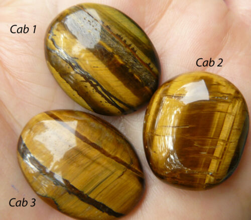 Free form oval polished on both sides Tiger Eye cabochon 21x24mm 26.5 carats