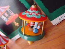 1996  Hallmark Miniature Christmas Ornament Circus Carousel Santa's Big Top w bx