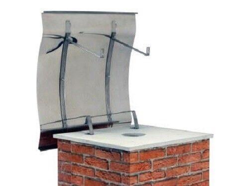 Schornsteinabdeckung Kaminhaube Kaminabdeckung Edelstahl Klappbar 700x1000mm