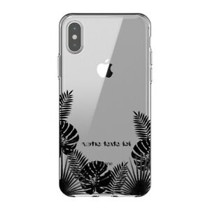 Coque Iphone XS MAX jungle noir personnalisee