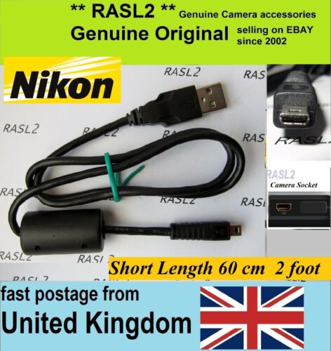 Cable USB Genuino Original NIKON D5500 D5300 D750 D3300 D3200 D5100 D5000 UC-E16