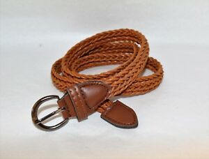 Unbranded-Tan-Braided-Belt-Size-S-LIKE-NEW