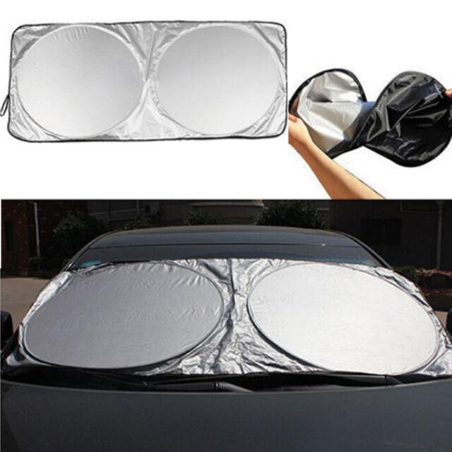 Best Folding Jumbo Front Car Window Sun Shade Auto Visor Windshield Block  Cover 1cd1d372a4a