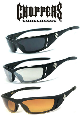 1 2 or 3 Pairs Choppers Anti-Reflective Biker Motorcycle Glasses Sunglasses