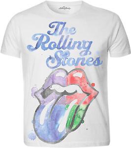 THE-ROLLING-STONES-Watercolour-Tongue-T-SHIRT-OFFICIAL-MERCHANDISE