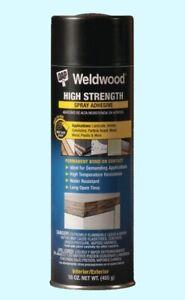 Details About High Strength Spray Adhesive 16 Oz Can Wood Metal Veneer Plastics Hi Temp Glue