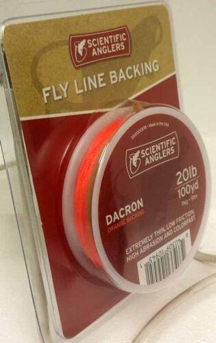 FREE US SHIPPING SCIENTIFIC ANGLERS 20 LB ORANGE 100 YARD DACRON BACKING