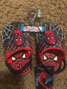 Toddler Boys Spider Man Shoes Small 5-6 Sandals Marvel Spiderman Hero Summer