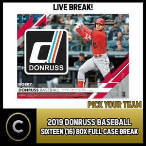 Details About 2019 Donruss Baseball 16 Box Full Case Break A127 Pick Your Team
