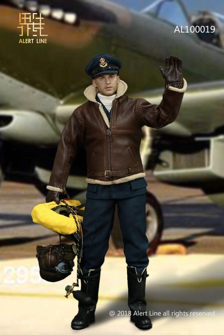 ALer Line AL100019 WWII British Royal Air Force - Fighter Pilot 1 6 Figure