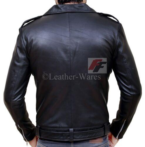 The Walking Dead Black Leather Jacket Jeffrey Dean Morgan Negan