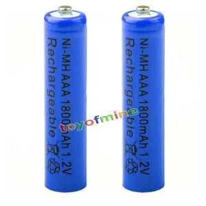 2x aaa 1800mah pile 1 2v ni mh rechargeable batterie 3a bleu pour mp3 jouet rc ebay. Black Bedroom Furniture Sets. Home Design Ideas