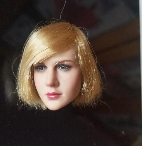 PH KIMI Toys 1//6 Women Girl Gold Short Hair Head Sculpt KT009 Model PVC F 12in