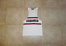 Dsquared² Runway CAMPING Canotta Singlet T-shirt S 74NC055 SS/10 Made in Italy